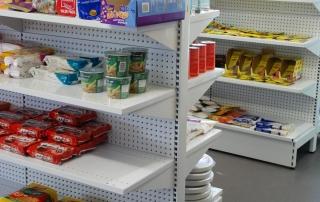 Display Shelving in Dairy Supermarket