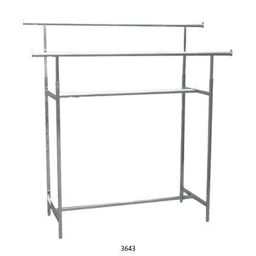 Double Rail Clothing Racks