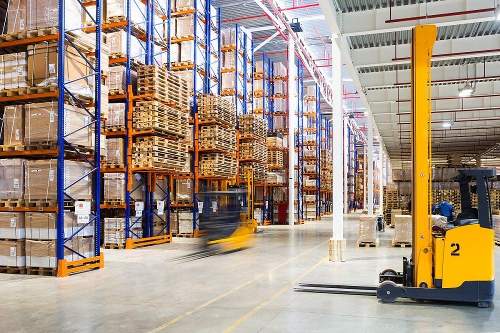 Pallet racking warehouse