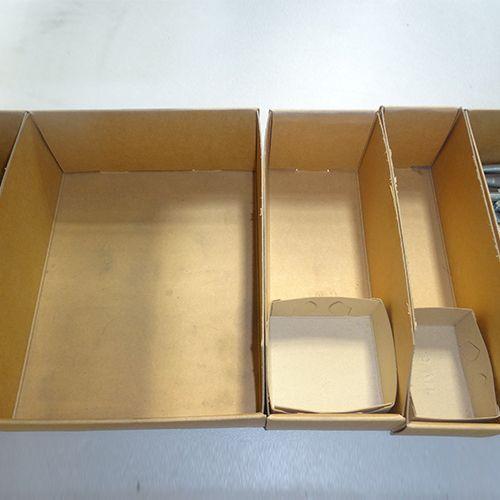 Shelving Shop - Cardboard Parts Boxes